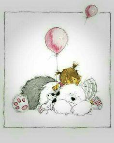 Bobtail Cartoon Dog, Cartoon Pics, Chien Bobtail, Old English Sheepdog Puppy, Giraffe Drawing, Happy Birthday Dog, Bearded Collie, Dog Books, Fluffy Dogs