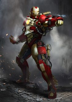 "emporioefikz: ""Steampunk Iron Man by Mac-tire """