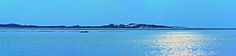 Evening sun in the North German Wadden Sea near the island Amrum