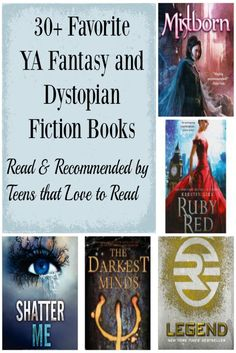 Looking for a great dystopian fiction or fantasy YA book to read? These 30+ books are recommended favorites by teens that love to read. Perfect gift ideas!