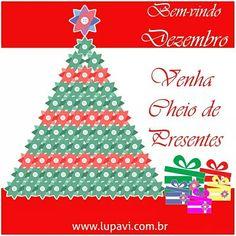 O melhor mês do ano chegou!!! Dezembro, último mês do ano, mês do natal, mês cheio de esperanças para o ano novo.  Feliz dezembro!!!   www.lupavi.com.br  #LupaviPatchwork #dezembro #natal #Lapavi