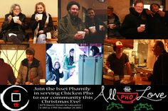 Issei Noodle Lancaster exercises their holiday spirit on Christmas Eve by handing out free chicken pho and hot chocolate to anyone needing a meal or good company.