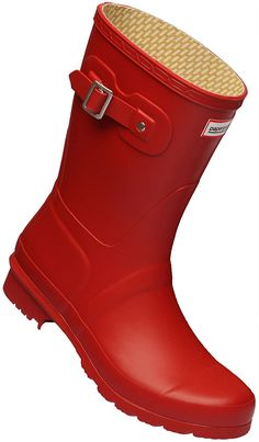 Paperplanes-1193-1 Women Trendy Middle Wellington Garden Rain Boots *** Click image to review more details.