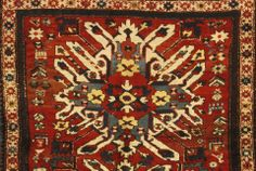 Lot 8009. DETAIL OF AN EAGLE KAZAK RUG size approximately 4ft. 6in. x 5ft. 5in. Bonhams 19 May 2014 in Los Angeles
