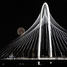 MHH Calatrava Bridge from Downtown to West Dallas