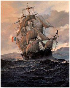 Wilk Wieslaw - Polish marine oil canvas painter