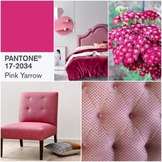 """I'm LOVING the colours @pantone have announced for 2017. Pink Yarrow """"is a captivating and stimulating colour that lifts spirits and gets the adrenaline going."""" But what do you think of this bold, attention getting hue?"""