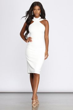 Shop Windsor's midi dresses for winter in favorite wrap, slit, ribbed, ruched & long sleeve styles. Casual to formal, midi dresses will be your go-to dress! White Dress Shoes, Red Midi Dress, Bodycon Dress, Shower Dress For Bride, Shower Dresses, Elegant Dresses, Nice Dresses, Casual Dresses, Interview Dress