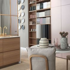 Helsingö: quality kitchens and wardrobes with IKEA cabinets frames. INGARÖ wardrobe in Blush Rose and BAGEL Copper Handles. Brown Doors, Grey Doors, Oak Doors, Ikea Pax Wardrobe, Wardrobe Handles, Brown Cabinets, Ikea Cabinets, Ikea Furniture, Bathroom Furniture