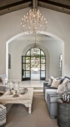 tuscan living area entry