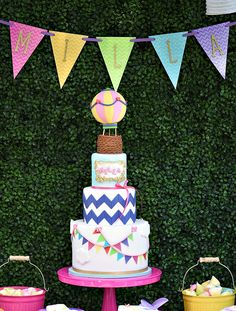 Vibrant & AMAZING Hot Air Balloon Festival Birthday-The Cake