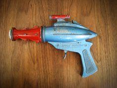 SALE - 1950s Vintage Toy Ray Gun - Lone Star SPACE RANGER - Metal Pistol Cap Gun - Father's Day