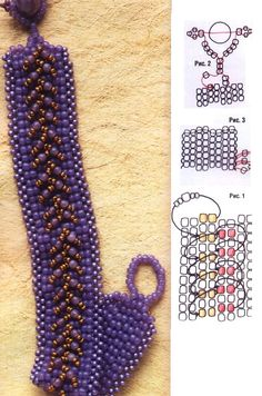 Schema for bracelet - translate.  #Seed #Bead #Tutorials