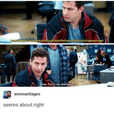 I'd assumed it was some Die Hard monologue or somrthin' Brooklyn Nine Nine Funny, Brooklyn 9 9, Best Tv Shows, Best Shows Ever, Movies And Tv Shows, Detective, Jake And Amy, Netflix, Jake Peralta