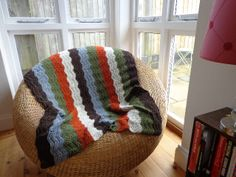 Crochet Blanket called 'Lost in the Woods'. by Red Sparrow Crochet