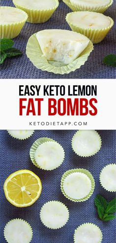 These easy four ingredient lemon fat bombs are packed with flavor and healthy fats. A tasty high-fat, keto and vegan treat! #keto #vegan # dessert #lemon #fatbombs High Fat Keto Foods, Keto Fat, Low Carb Keto, Keto Lemon Fat Bombs, Keto Bombs, Easy Fat Bombs Keto, Dairy Free Keto Recipes, Low Carb Recipes, Diet Recipes