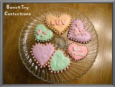 Conversation Hearts cookies...Sweet Ivy Confections