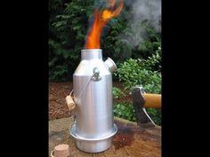 'Trekker' Kelly Kettle® (Aluminium) - Camping Kettle with Whistle. Kettle and Camp Stove in one. No Batteries, No Gas, No Fuel costs! For trekking and hiking. Weight NOW WITH UPGRADED STEEL FI Camping Survival, Outdoor Survival, Emergency Preparedness, Survival Skills, Outdoor Camping, Survival Hacks, Survival Stuff, Camping Outdoors, Survival Kit