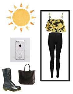 """Daisies ?"" by dina-al-kridli ❤ liked on Polyvore featuring Boohoo, Dr. Martens, Kate Spade and Givenchy"