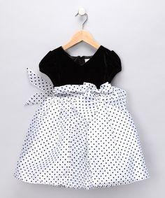 Black + White Polka Dot Dress