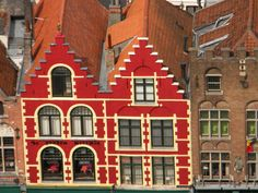 I just love those colorful buildings in Belgium