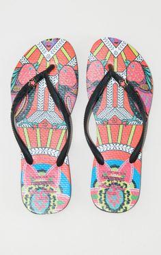 mara hoffman x havaianas sandals // #planetblue #whatsnew
