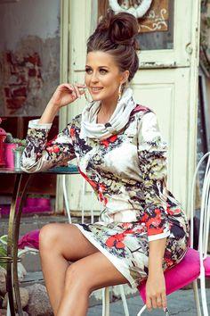 Rochii elegante pentru toate ocaziile: casual zi office si seara Smart Casual, Color Patterns, Fashion Dresses, Golf, Turtle Neck, Outfits, Fashion Show Dresses, Suits, Trendy Dresses