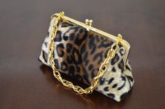 Animal Print Leopard Clutch Wedding Purse von loliscreations