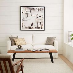 Slipcover Only for Willow Modern Slipcovered Full Sleeper Sofa + Reviews | Crate and Barrel White Apartment, Apartment Sofa, Casual Living Rooms, Simple Living Room, Full Sleeper Sofa, Daybed With Trundle, Cool Coffee Tables, Scandinavian Living, Sofa Furniture