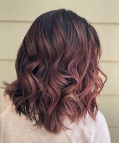 Ombre Rose Gold, Cabelo Rose Gold, Rose Gold Hair Brunette, Brunette Color, Rose Gold Brown Hair, Rose Gold Short Hair, Black Hair, Brown Ombre Hair, Rose Hair
