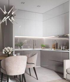 Kitchen Room Design, Modern Kitchen Design, Home Decor Kitchen, Interior Design Kitchen, Kitchen Furniture, Luxury Home Decor, Cheap Home Decor, Modern Kitchen Cabinets, Deco Design