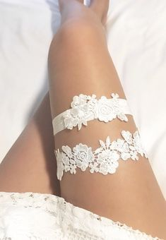 Trying On Wedding Night Lingerie/ Underwear White Bridal Garter, Garter Belt Wedding, Bride Garter, Lace Garter, Bride Lingerie, Wedding Night Lingerie, Lingerie Shoot, Lingerie Underwear, Lace Lingerie