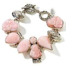 Pink Opal Bracelet Pink Opal, Black Opal, Opal Jewelry, I Love Jewelry, Sterling Silver Bracelets, Pretty In Pink, Bling, Jewels, Gemstones