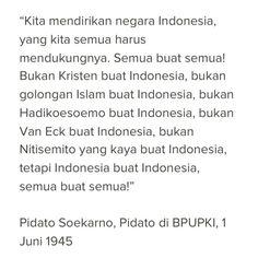 Pidato #Soekarno di BPUPKI, 1 Juni 1945 #Indonesia #RI70