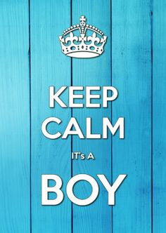 KEEP CALM it's A BOY - Geboortekaartjes - Kaartje2go © OTTI and Lorie Davison