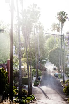 """One of my favorite parts about living in LA is ducking into side streets to avoid traffic and discovering the most distorted views and dreamy little neighborhoods. This happens almost daily but I happened to have my camera on hand today."""