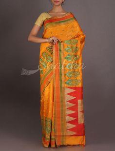 Nikita Vibrant Silk With Contrast Work Border Pallu #ChikankariSilkSaree