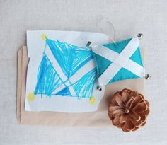 Saltire, designed by my 5 year old for her student teacher, made by me. It's magnificent :) Scottish expats in your life? Gift: done. #scotland #saltire #expat #gift #ornament