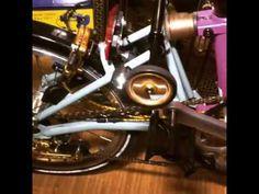 Brompton EZwheel rolling on X-Roller