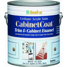 Cabinet Coat product for professional finish on DIY painted kitchen cabinets
