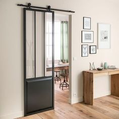 porte coulissante type atelier rail lancienne et pointe de diamant pinterest doors barn doors and industrial