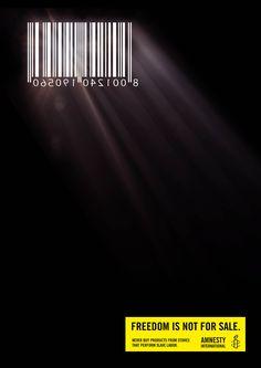 Amnesty International - Cellcode #ad #advertising #amnesty #sale #print