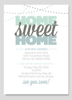 Housewarming Party Invitation by PaperCloudStudios on Etsy, $11.00