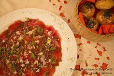 Beef Carpaccio, Hotel Museo Palacio de San Agustín