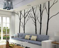 arbres au mur