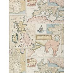 Buy Mulberry Home Bohemian Travels Paste the Wall Wallpaper Online at johnlewis.com