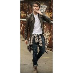 Como Se Vestir em Camadas No Inverno Um Guia Para Homens ❤ liked on Polyvore featuring mens outfits, double layer top, layered sweater and layered tops