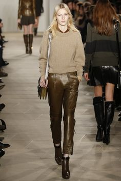 Leather Cozies Up:  Belstaff RTW Fall 2013 - super cute and actually wearable :)    7 of 11  Belstaff RTW Fall 2013