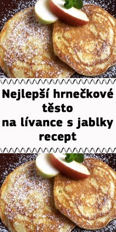 My Dessert, Dessert Recipes, Desserts, Slovakian Food, Czech Recipes, Apple Cake, Sweet Recipes, Yummy Treats, Ham