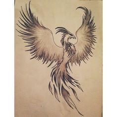 Grey Phoenix Tattoo Poster                                                                                                                                                                                 Más                                                                                                                                                                                 Más